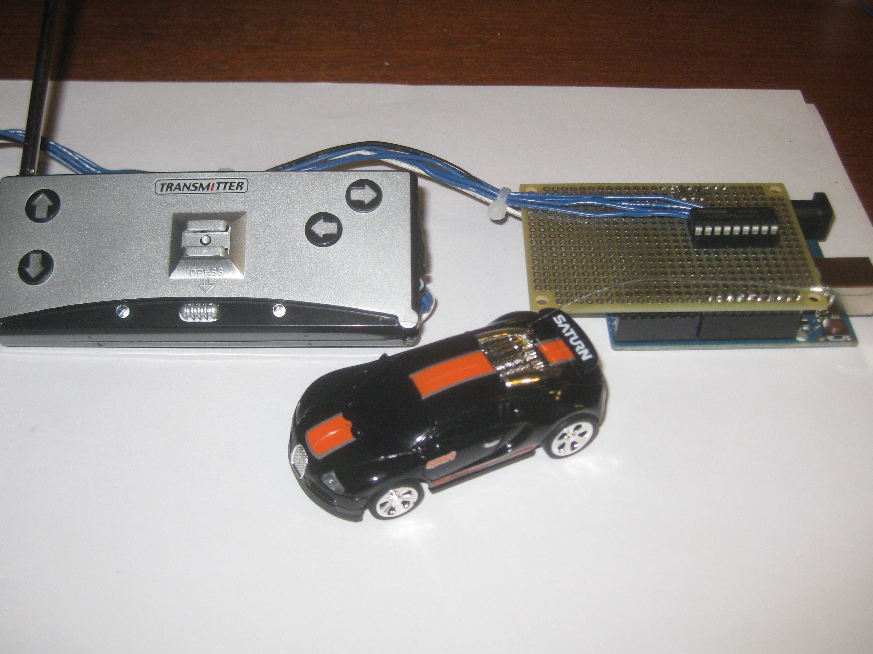 Programmable Rc Car How To Guide Electronics Project Make A Remote Control Plugged In Connector Fully Assembled Shield And